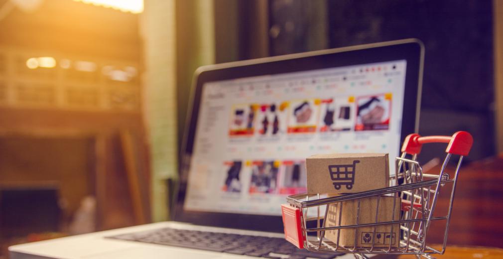 Shopping cart and laptop - D2C Manufacturers